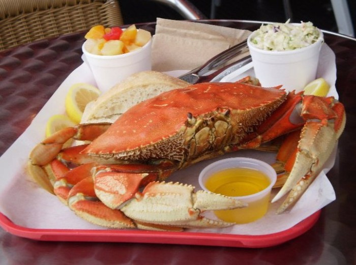 7. Eat dungeness crab on the coast (or go catch one yourself!).