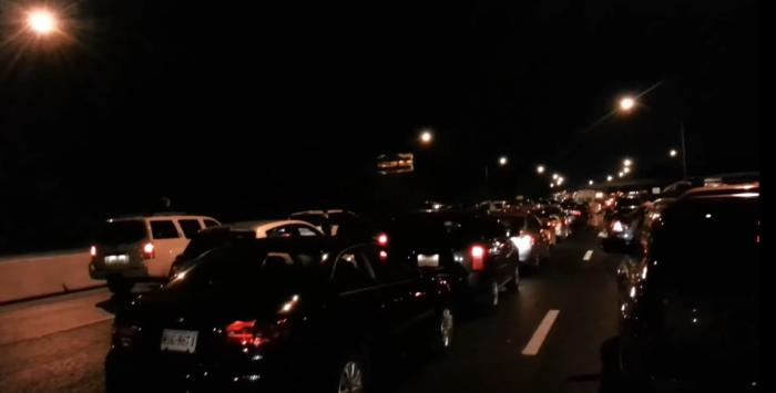 12. A Virginia Beach traffic jam turns into a party.