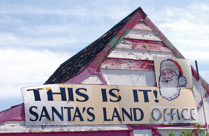 10. We have two official Christmas towns: Santa Claus and Christmas.