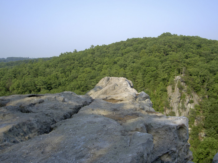 11) Venture to the King and Queen Seat at Rocks State Park.