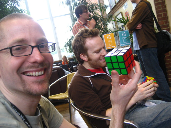 8. Remember the many hours we spent trying to solve the Rubik's Cube? We can't all be as lucky as this guy!