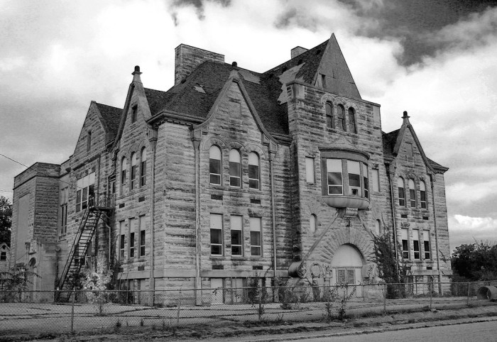 9. Check out the Stalker School in Bedford, Indiana. Not too sure exactly how old this school is.