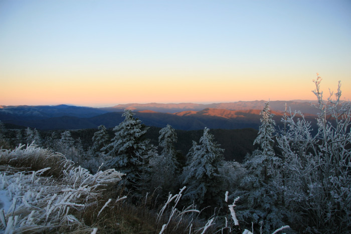 11. Winter afternoon in the Smoky Mountains.