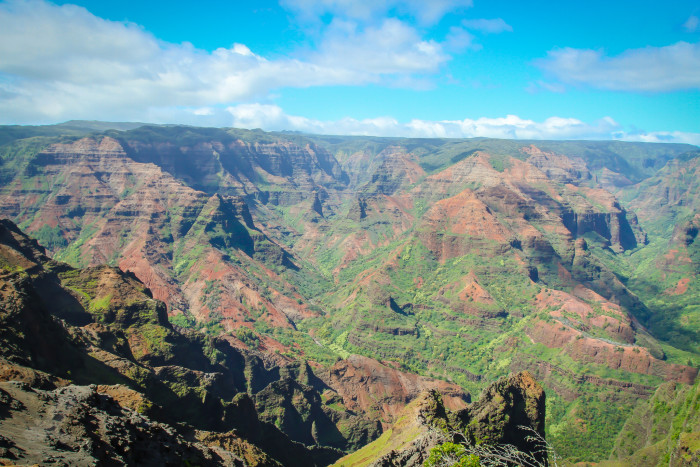 "3) Waimea Canyon, also known as the ""Grand Canyon of the Pacific,"" can be seen in Donovan's Reef, Honeymoon in Vegas, and Lilo & Stitch."