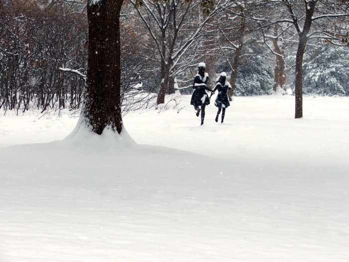 3.Running Child Statues, Winter, St. Louis
