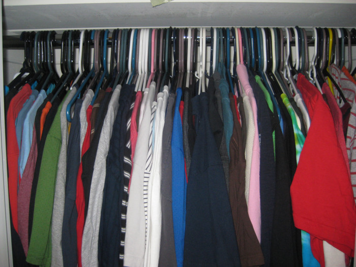 7. Having your summer, fall and winter clothes out because you never know what will be appropriate to wear tomorrow and there's just not enough room for all of them.