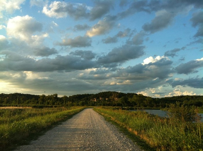 31.	A country road — at Eagle Bluffs