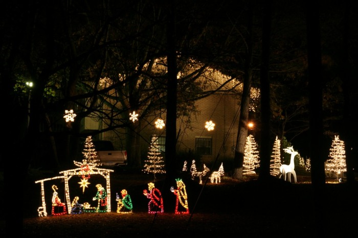 dont you just love the lighted nativity scene at this birmingham area home - Lighted Christmas Houses