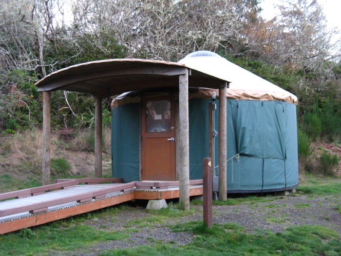 7. Camp in a yurt on the Coast.