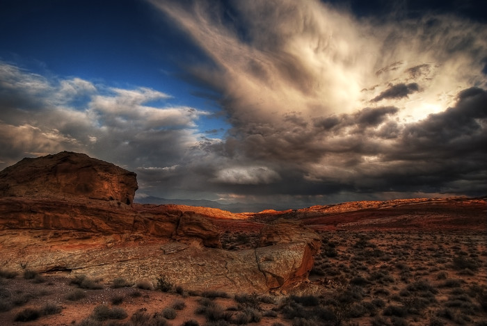 10. An AWESOME cloud shot captured at Valley of Fire State Park.