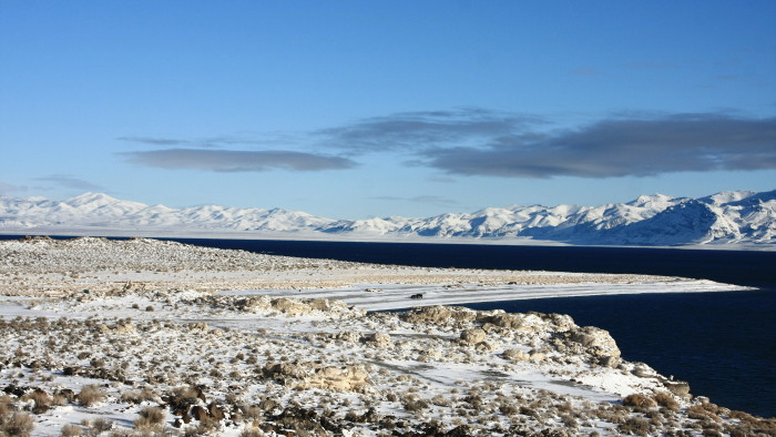 10. Pelican Point, at Pyramid Lake, is so beautiful covered in snow. This wonderful scene was captured in December 2008.
