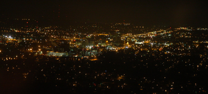3. The South Bend skyline looks incredible at night, right?