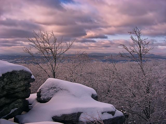1. Climb Wolf Rocks in Monroe County.