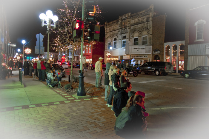 3. Our towns go all out for Christmas.