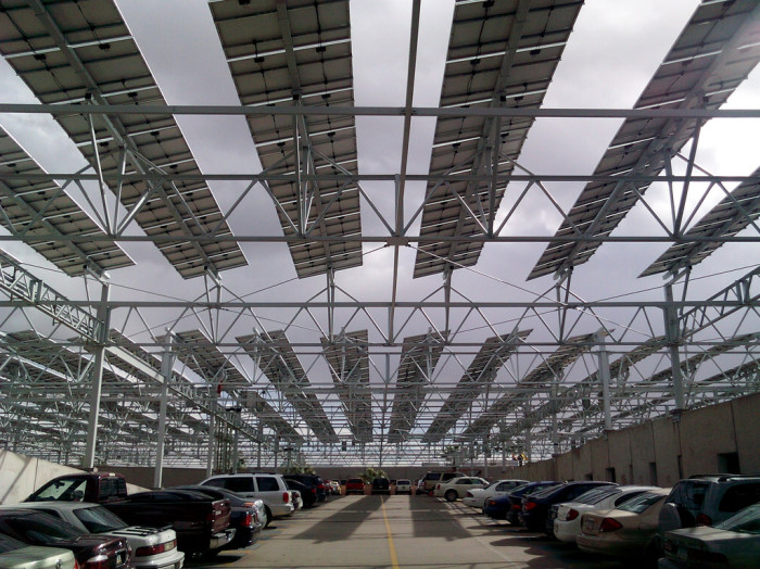 8. More covered parking that doubles as solar power planets.