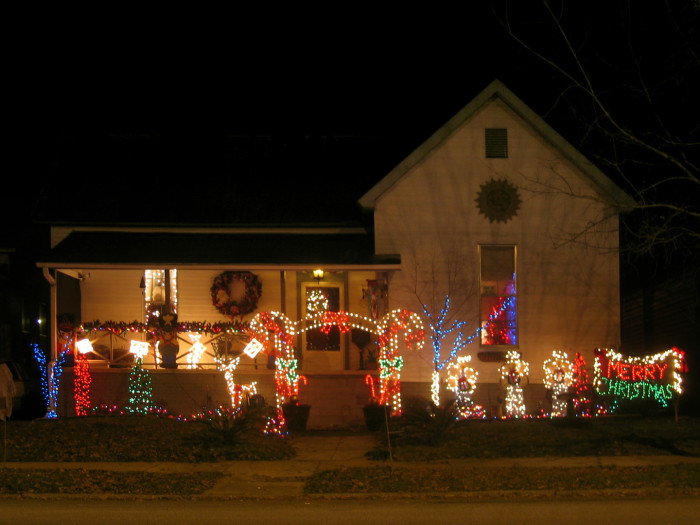 5. Candy Cane Lane! What a GREAT way to welcome someone into your home during the holiday season!