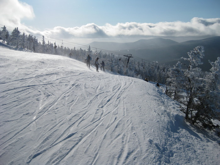 8. Few things are more beautiful than the first run of the season after some fresh snowfall at Sugarloaf.