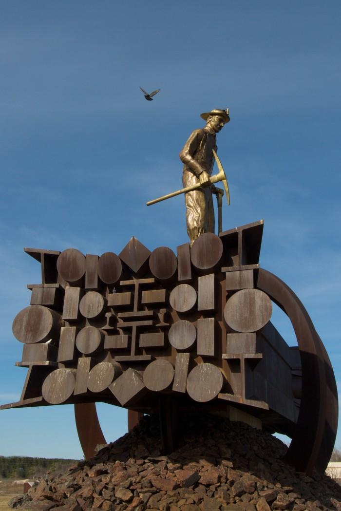 "9. Chisholm - ""The Emergence of Man Through Steel."""