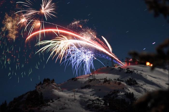 3) Alyeska Resort Firework Show
