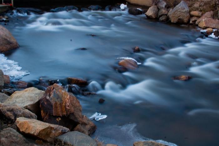 12. Icy Evergreen stream