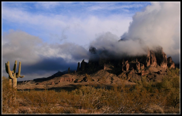 6. Take a hike in the Superstition Mountains when the weather is much cooler.