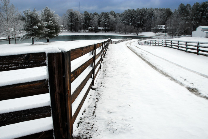 4. Walker's Crossroads and a white Christmas a few years ago.