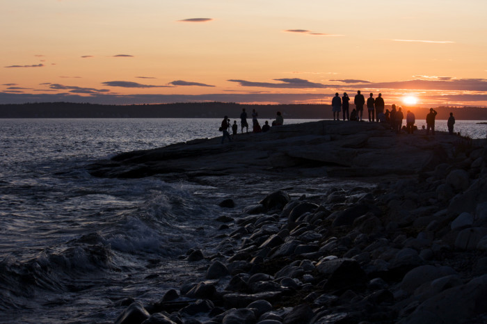 12. A Sunset Crowd, Ocean Point