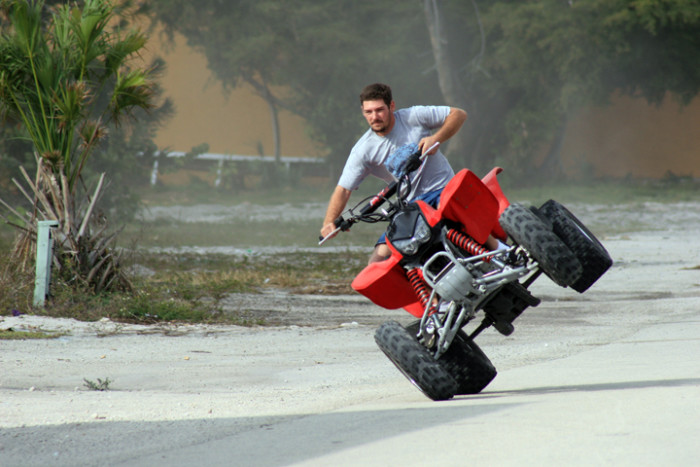 4. We might take you for a ride on our four-wheeler.
