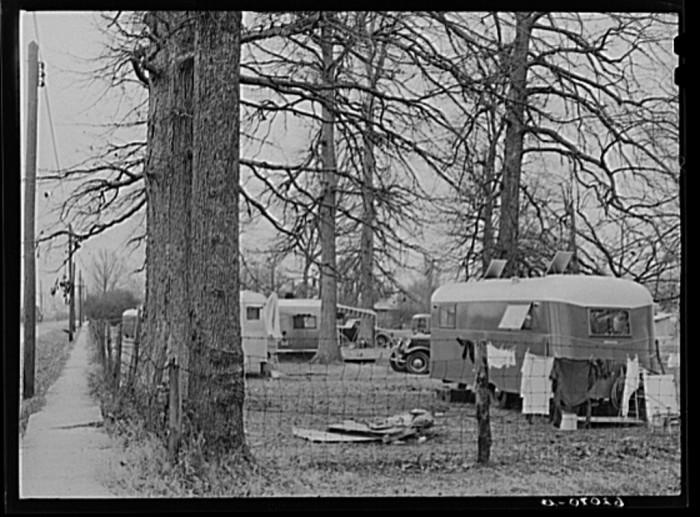 4) Trailer camp shots