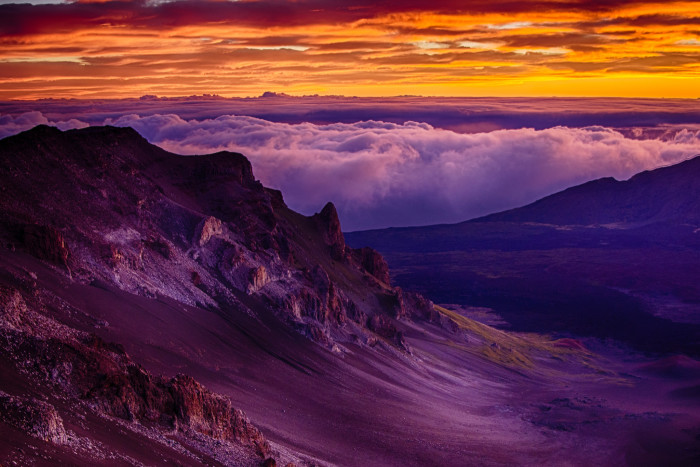 4) Watch the sun rise from the summit of Mount Haleakala, and then spend the day hiking.