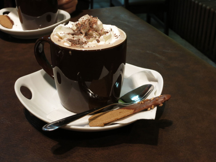 4. ...filled with hot chocolate or a frothy chai tea.