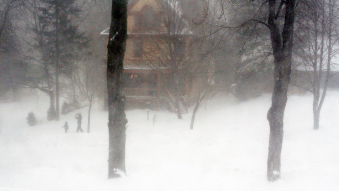 1. We get completely buried in snow.