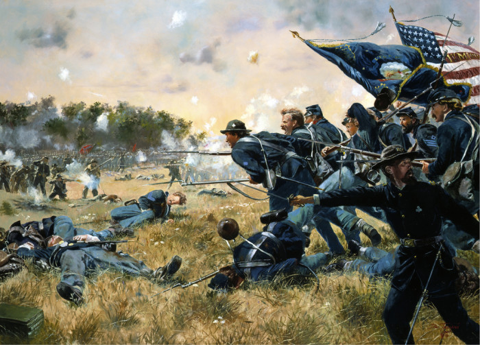 6. Speaking of giving their lives, it was the great sacrifices of the First Minnesota Infantry that won the battle at Gettysburg and was a major turning point for the Civil War. The MN infantry had the highest casualty rate of any unit in the Civil War.
