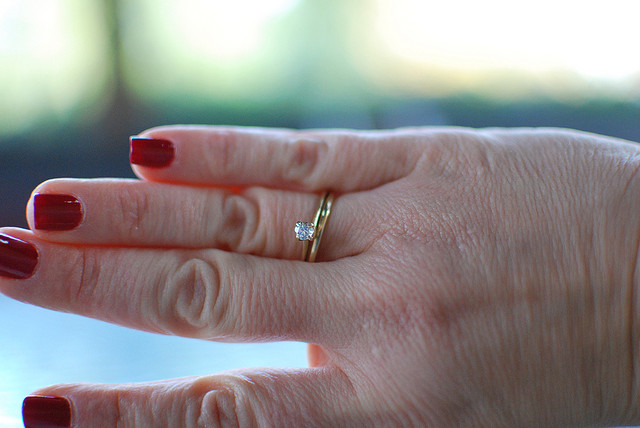 7. A woman found her lost wedding ring at the landfill.