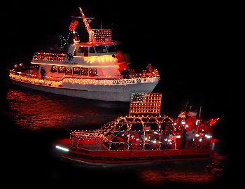 5. The Lighted Boat Parade.