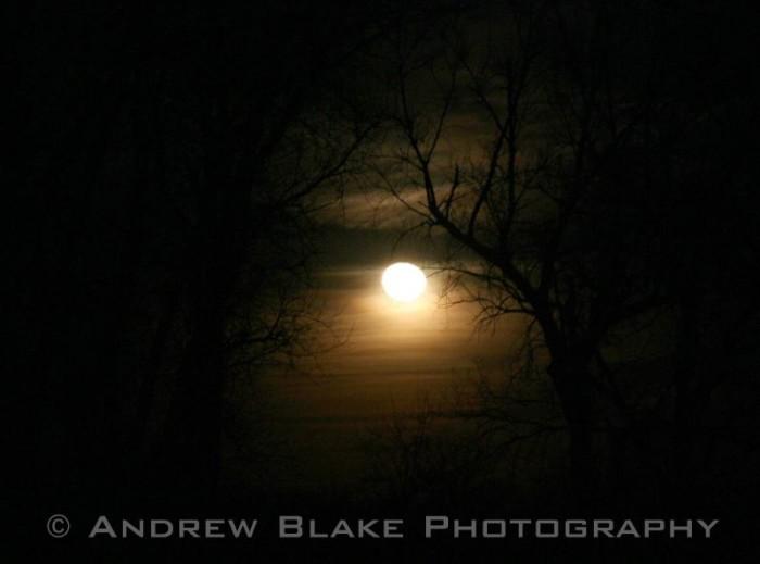 1. A mysterious winter moon over Kansas.