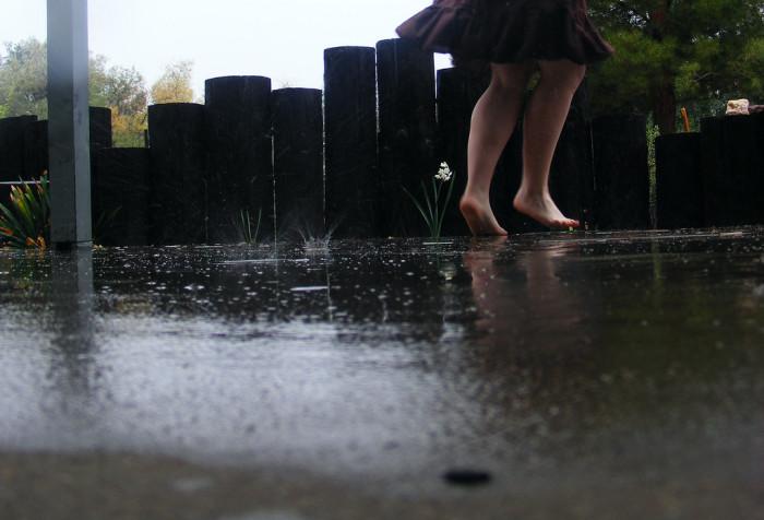 8. Dance in the rain.
