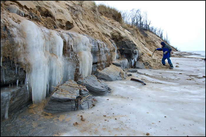 11. Here is a nice frosty picture of Indiana Dunes National Lakeshore.