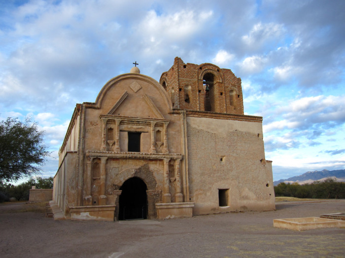 3. A vast silver mine might be hidden near Tumacacori Mission since the 18th century.