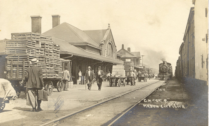 4. The Milwaukee Road Depot in Mason City was a bustling place in July of 1915.