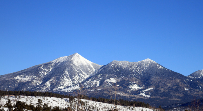 2. Another classic snowy location: the San Francisco Peaks in Flagstaff.