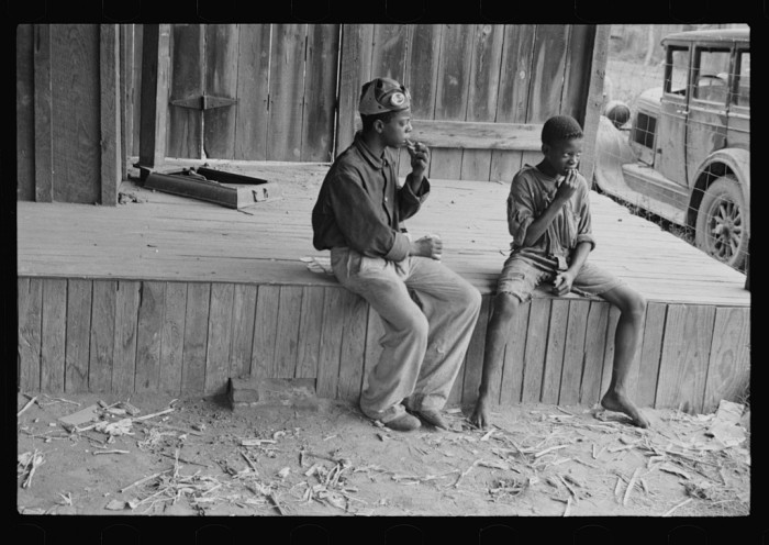 4. Sadly, homeless children, such as these two boys in Natchez, were not an uncommon sight during the Great Depression.