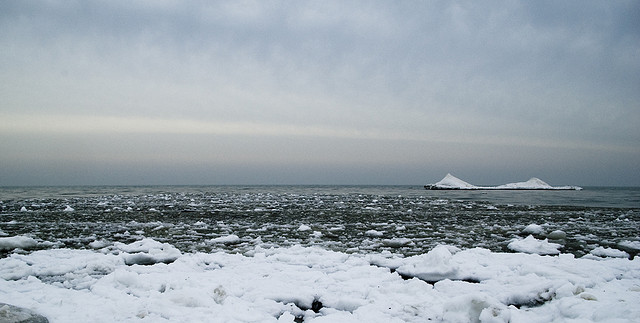 10. Shiver in the face of Lake Erie Ice.