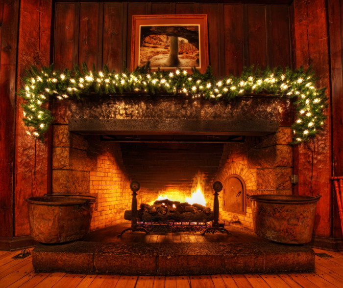 10. Not being able to light the fireplace to add to your holiday décor because it's simply too hot for that.