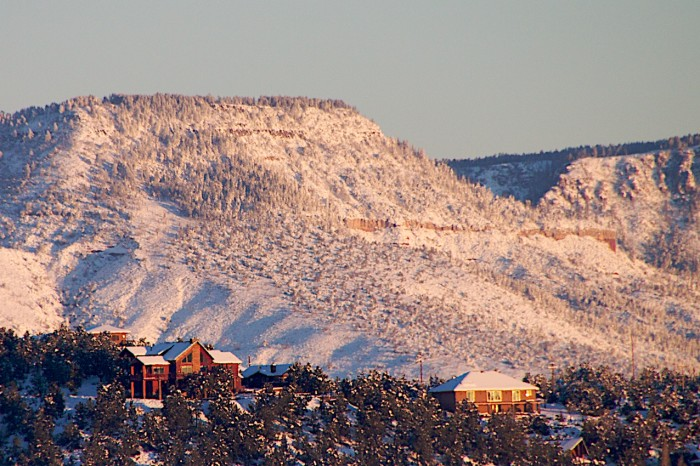 12. A favorite spot to see snow each year? Along the rim, of course!