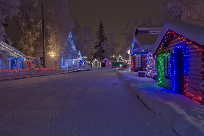 1) Pioneer Park all lit up!