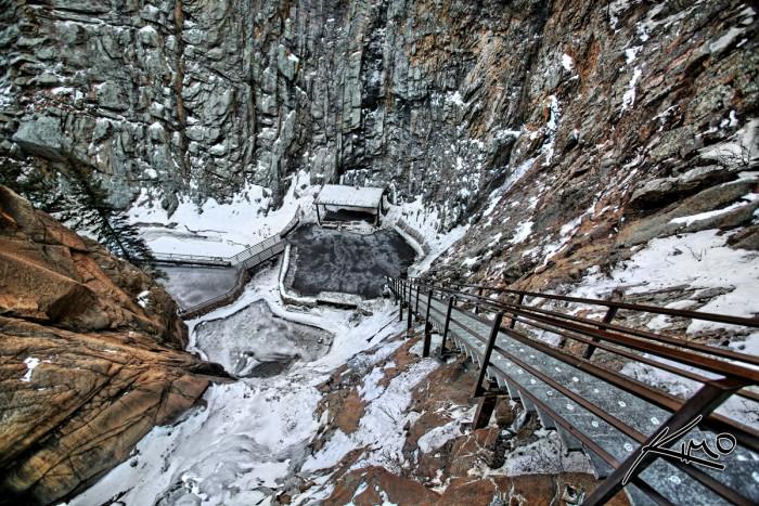 7. Snowy Seven Falls.