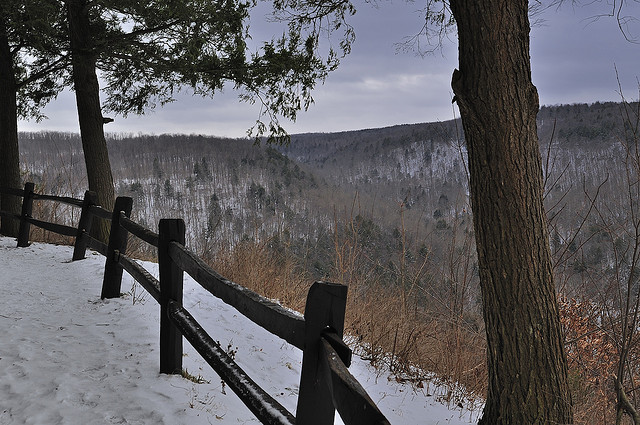 10. The Poconos offer some of the most striking views at any time of year, especially in the winter when the mountains don blankets of snow.