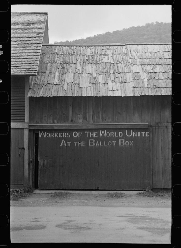 4.  Sign on barn door, Rochester, Vermont.
