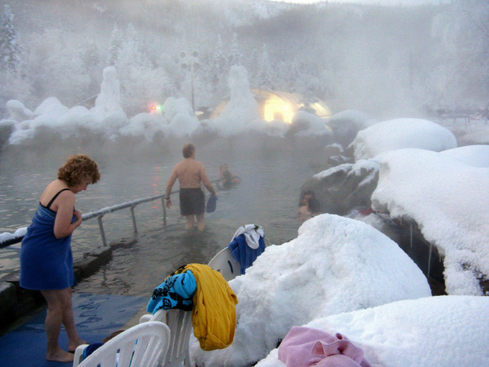 1) Spend a day at your local hot spring.